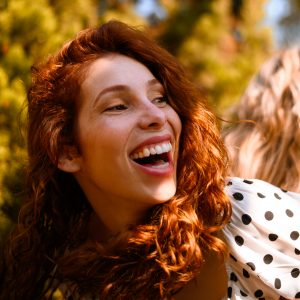 Photo of laughing woman
